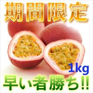 訳ありパッションフルーツ1kg パッションフルーツ1kg 時計草 奄美大島