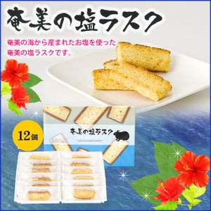 奄美大島 塩ラスク 12枚入り ラスク 塩ラスク|amami-osima