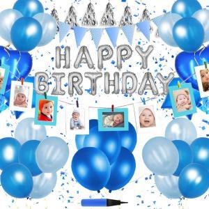 ポイント5倍!写真ガーランド10枚!62点セット&大切な方のお誕生日や記念日を華やかに彩るバースデー...