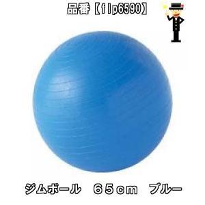 お勧め! 当店在庫品 ジムボール 65cm ブルー FLP6590 エクササイズ フィットネス ダイエットウェイトトレーニング器具|amatashop