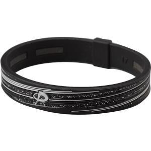 ファイテン RAKUWAブレスS スラッシュラインラメタイプ(ブラック×グレー/17cm)の商品画像 ナビ