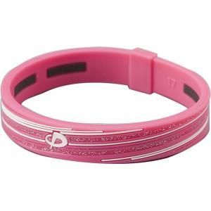 PHITEN ボディケア RAKUWAブレスS スラッシュラインラメタイプ ピンク/ホワイト 15cm 16 グッズソノタ(tg714324)の商品画像|ナビ