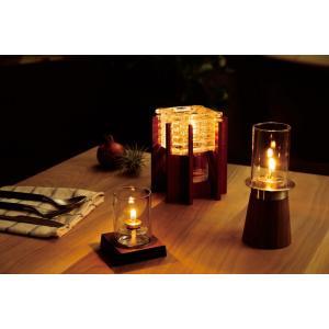 【キャンドルランプ・ウッディ茶色】 人気 オイルランプ オイルキャンドル インテリア おすすめ インテリアランプ