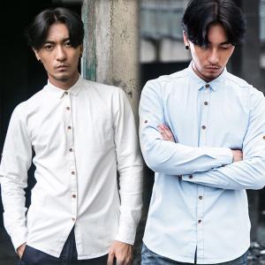シャツ 50代 ファッション 長袖シャツ 白シャツ カジュア...