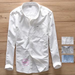 ボタンダウンシャツ メンズ 白シャツ ワイシャツ カジュアル...