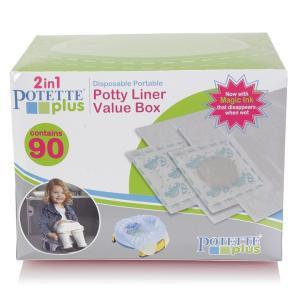 おまるシート90pack オマル 携帯トイレ 子供用便座 Potette Plus Kalencom ポテットプラス トイレトレーニング 災害時 アウトドア ドライブ 旅行 使い捨てトイレ|amazing-green