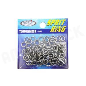 HOT`S : ホッツスプリッドリング タフネス 徳用パック#4 (90LB) 100コ入りSprit Ring Toughnessジギング スプリットリング|amberjack