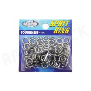 HOT`S : ホッツスプリッドリング タフネス 徳用パック#5 (100LB) 80コ入りSprit Ring Toughnessジギング スプリットリング|amberjack