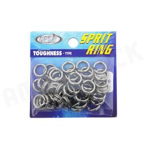 HOT`S : ホッツスプリッドリング タフネス 徳用パック#6 (170LB) 50コ入りSprit Ring Toughnessジギング スプリットリング|amberjack