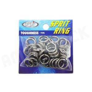 HOT`S : ホッツスプリッドリング タフネス 徳用パック#7 (210LB) 45コ入りSprit Ring Toughnessジギング スプリットリング|amberjack