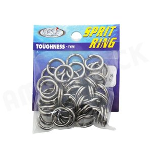 HOT`S : ホッツスプリッドリング タフネス 徳用パック#8 (290LB) 40コ入りSprit Ring Toughnessジギング スプリットリング|amberjack