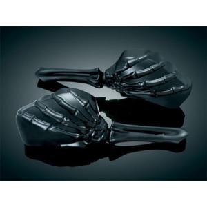■カラー ブラック ■左右セット ■Kuryakyn(クリアキン)製 ■ハーレー用ミラー