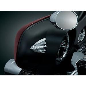 ミラーホール カバープレート FLHX用 クロームメッキ Kuryakyn製 ◆ハーレー◆|amberpiece|02