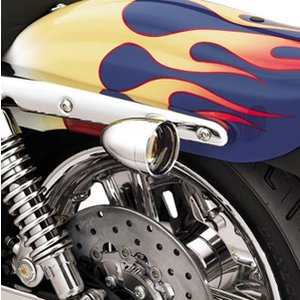 ハーレー純正【69753-04】ブレット・トリムリング/スモークレンズ&アンバーバルブ|amberpiece