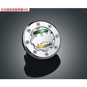 ★ LED フューエル&バッテリーゲージ Kuryakyn製◆ハーレー◆ amberpiece