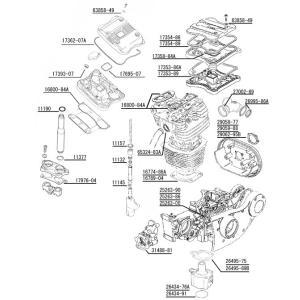 【26495-89B】 スポーツスター・エンジン周りガスケット各種:オイルポンプマウント:1991年...