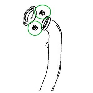 【1個売り】エキゾースト フランジナット クロームメッキ ◆ハーレー◆ amberpiece 02