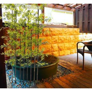黒竹 8本立 パーテーション 210cm (人工竹 造花 竹林 インテリア 和風 庭 フェイクグリーン バンブー 間仕切り 作り物 目隠し)