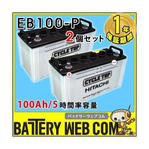 日立 新神戸電機 2個セット EB100 ポール端子 テーパー 100Ah/5時間率容量 日立化成 日本製 国産 ディープサイクル バッテリー 蓄電池 太陽光 ソーラー発電 用|amcom