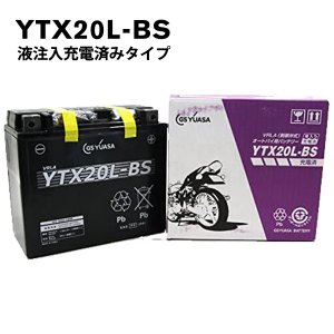 YTX20L-BS GSユアサ バッテリー バイク用 GS YUASA VRLA 制御弁式 液入り充電済 ジェットスキー 水上バイク ハーレー 傾斜搭載可 横置き可能 純正 正規品 amcom