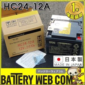 日本製 HC24-12A 日立 新神戸 JIS規格・小型制御弁式鉛蓄電池 バッテリー セニアカー ミニアカー エレベーター UPS 無停電電源 電動車椅子 無人搬送車 日立化成|amcom