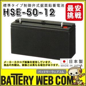 HSE-50-12 日立化成 日本製 産業 用 バッテリー HSEシリーズ 制御弁式据置鉛蓄電池 通信設備 消防用設備 UPS バックアップ 日立 新神戸電機 国産|amcom