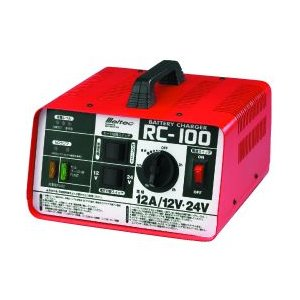 メルテック 大自工業 RC-100 バッテリー充電器 12V/24V対応 バッテリー 用 Meltec セルブースト機能付 バッテリーチャージャー RC100|amcom