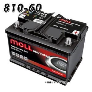 送料無料 MOLL 欧州車用バッテリー 810-60 モル 自動車バッテリー 2年保証 81060 車 用 自動車 欧州車 外車用 バッテリ-|amcom