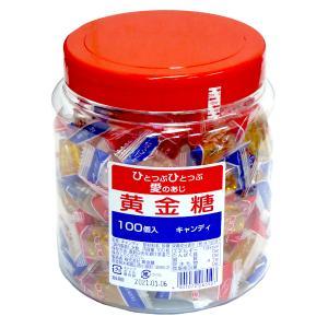 黄金糖 お徳用キャンデーポット容器入り ピロ包装 100個入「よしもと 47シュフラン」ファミリー部門金賞|amechan