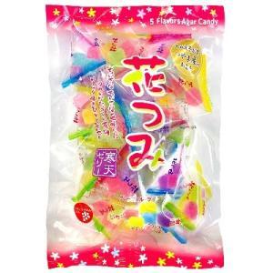 津山屋製菓 花つみ寒天ゼリー 210g×1袋 和菓子寒天ゼリー テトラ個装パック|amechan