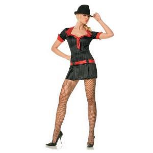 ピンストライプスーツ レッド セクシー 衣装 、コスチューム 女性用|amecos
