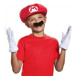 マリオ 帽子、ハット 子供用 グローブ 付け髭 仮装グッズ|amecos