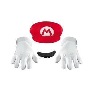 スーパーマリオ マリオ 帽子 手袋 ひげ 大人用|amecos