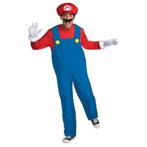 マリオのジャンプスーツ、帽子、手袋、取り外し可能な膨らんだお腹、口ひげのセット※靴は含まれません。 ...