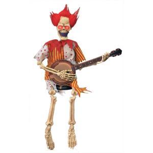 ギターを弾く骸骨 動く 小道具 ハロウィン用 amecos