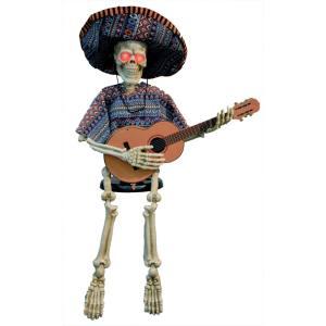 ギターを弾く骸骨 動く 小道具 ハロウィン用 メキシカン amecos