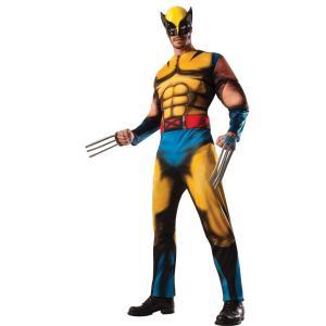 X-MEN ウルヴァリン 衣装、コスチューム 大人男性用 WOLVERINE ADULT DELUXE|amecos