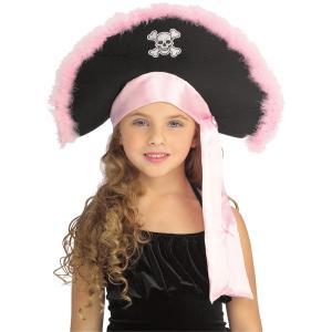 海賊 帽子 子供女性用 ハット ピンク PIRATE HAT IN PINK|amecos