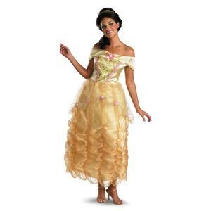 美女と野獣 ベル 衣装 、コスチューム ドレス Deluxe ディズニー 女性用 amecos