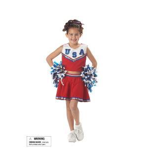 PATRIOTIC CHEERLEADER チアリーダー 衣装 、コスチューム 子供用|amecos