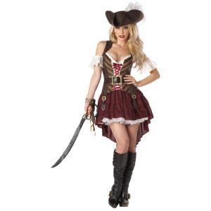 海賊 セクシー 衣装、コスチューム 大人女性用 Swashbuckler|amecos