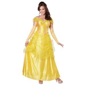 お姫様 ドレス 衣装、コスチューム 大人女性用 黄色 CLASSIC BEAUTY amecos