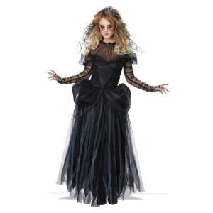 ダークプリンセス 衣装、コスチューム 大人女性用 黒い花嫁 ウエディングドレス風 ハロウィン|amecos