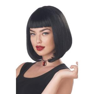 ブラック ボブ ショート ウィッグ、かつら 大人女性用 90年代 ディスコ 90'S PULP FI...
