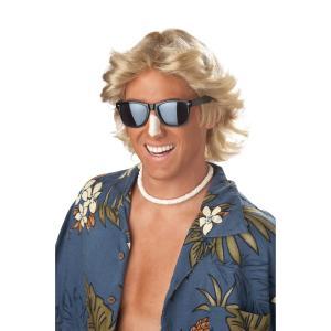サーファー ウィッグ、かつら ブロンド 大人用 70'S FEATHERED  HAIR WIG amecos
