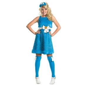 クッキーモンスター セサミストリート 大人女性用 衣装、コスチューム コスプレ COOKIE MONSTER SASSY|amecos