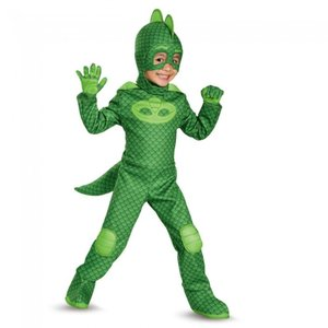 ゲッコー しゅつどう!パジャマスク PJマスク 衣装、コスチューム 子供男性用 Gekko Deluxe Toddler amecos