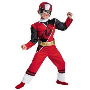 レッドレンジャー パワーレンジャー・ニンジャスティール 衣装、コスチューム 子供男性用 RED RANGER N STEEL MUSCLE|amecos