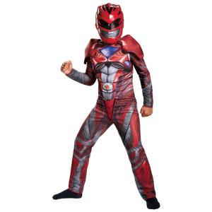 レッドレンジャー パワーレンジャー 衣装、コスチューム 子供男性用 RED RANGER 2017 MUSCLE CH|amecos