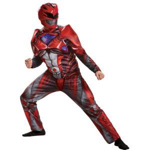 レッドレンジャー パワーレンジャー 大人男性用 衣装、コスチューム コスプレ RED RANGER 2017 ADULT|amecos
